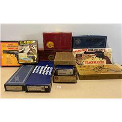 LOT OF 12 VINTAGE HANDGUN FACTORY BOXES