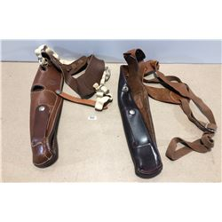 LOT OF 2 LEATHER BIANCHI SHOULDER HOLSTERS - .38 / .357