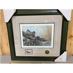 PIERRE GIRARD LIMITED EDITION PRINT & STAMP - NEW