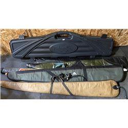 FLAMBEAU HARD LONG GUN CASE & 8 SOFT CASES & 2 TRIGGER LOCKS