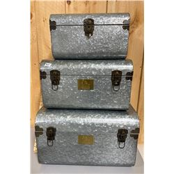 SET OF 3 NESTING TRUNKS - NEW