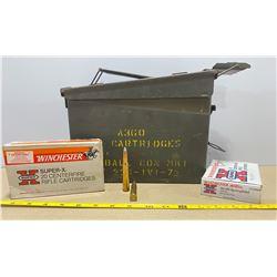 METAL AMMO BOX W/ 40 X WINCHESTER .30 - 06 180 GR