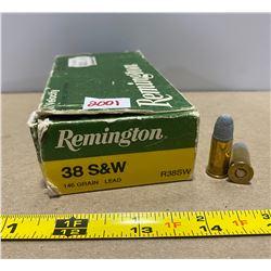43 X REMINGTON .38 S&W 146 GR