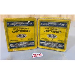 200 X CIL .22 LR IN COLLECTIBLE BOXES