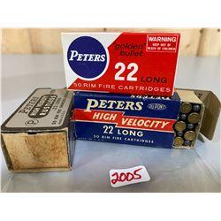 150 X PETERS .22 L