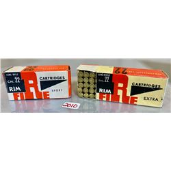 100 X .22 LR IN COLLECTIBLE BOX
