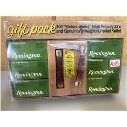 REMINGTON GIFT PACK - 300 X .22 & POCKET KNIFE