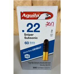500 X AGUILA .22 SNIPER SUB SONIC