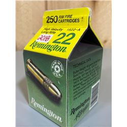 250 X REMINGTON .22 LR 40 GR - COLLECTIBLE BOX