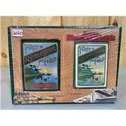 REMINGTON GIFT SET - 200 X .22 & PLAYING CARDS - AS NEW