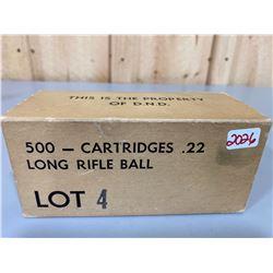 500 X D.N.D. .22 LR BALL