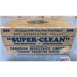 500 X CIL SUPER-CLEAN BRICK OF .22 LR - COLLECTIBLE BOX