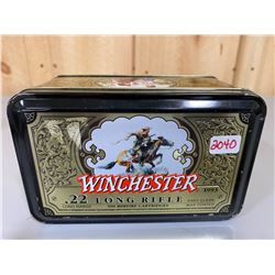 500 X WINCHESTER .22 LR IN COLLECTIBLE TIN