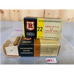 100 X RANDFEUERPATROEN .22 - COLLECTIBLE BOXES