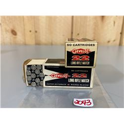 100 X GEVELOT .22 LR - COLLECTIBLE BOXES