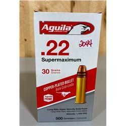 500 X AGUILA .22 SUPERMAXIMUM 30 GR