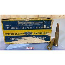 20 X CIL SUPER-CLEAN .22 SAVAGE