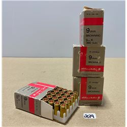 100 X SELLIER & BELLOT 9 MM BROWNING  380 ACP