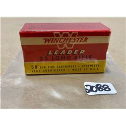 50 X WINCHESTER .22 LR - COLLECTIBLE SEALED BOX