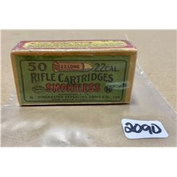 50 X WINCHESTER SMOKLESS .22 L - COLLECTIBLE FACTORY SEALED BOX