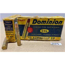 40 X DOMINION .32 REM 170 GR