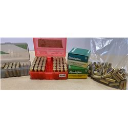 130 X .44 REM MAG - SOME RELOADS & QTY BRASS