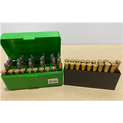 44 X .30-30 LIVE AMMO - SOME RELOADS & 9 X BRASS