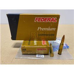 40 X FEDERAL .308 WIN 168 GR