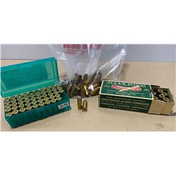 50 X .44 SP LIVE - RELOADS & 100 X BRASS - COLLECTIBLE BOX