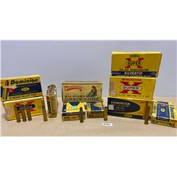 MISC AMMO / BRASS / COLLECTIBLE BOX LOT