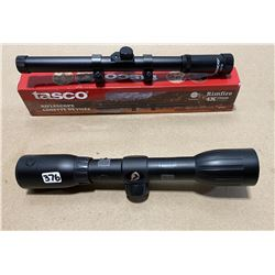 LOT OF 2 SCOPES, TASCOE 4 X 15 & GAMO 4 X 32