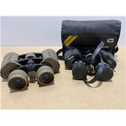 LOT OF 2 BINOCULARS. SANWA 7 - 15 X 35 & GALILEA 8 X 32 X 40