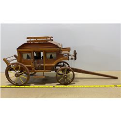 HANDMADE STAGECOACH - EXCELLENT DETAIL
