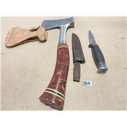 ESTWING HATCHET & SHEFFIELD KNIFE