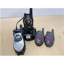 LOT OF 4 MISC WALKIE-TALKIES