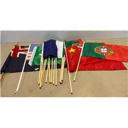 LOT OF 18 FOREIGN COUNTRY PARADE FLAGS