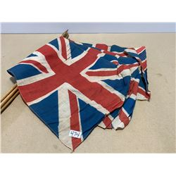 LOT OF 5 PRE 1952 BRITISH PARADE FLAGS