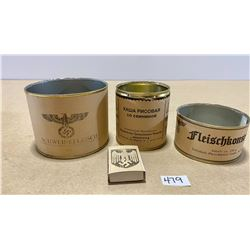 LOT OF 4 RE-ENACTMENT PCS - GERMAN MILITARY RATIONS