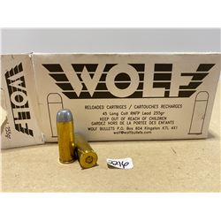 50 X WOLF .45 LONG COLT
