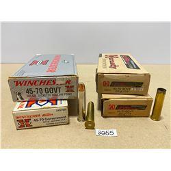 40 X WINCHESTER .45 - 70 GOVT 300 GR & 29 X BRASS