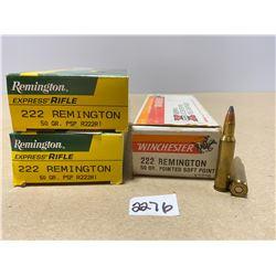 60 X WINCHESTER / REMINGTON .222 REM 50 GR