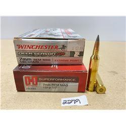 40 X HORNADY / WINCHESTER  7 MM REM MAG 140 GR