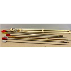 LOT OF 8 GUN CLEANING RODS & TIPS