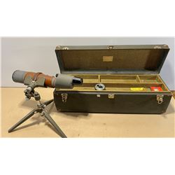BUSHNELL 25X SPOTTING SCOPE W/ VINTAGE CARRYING BOX