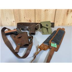 LOT OF 3 LEATHER BELT / HOLSTERS
