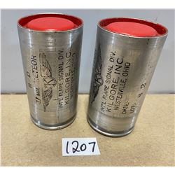 LOT OF 2 37 MM RED FLARES (FOR LOT 1206)