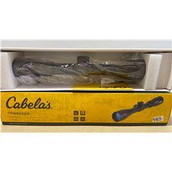"CABELA'S 1"" 3 - 9 X 40 RIFLE SCOPE W/ DUPLEX RETICLE"