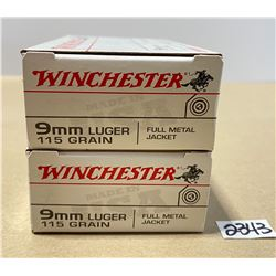 40 X WINCHESTER 9 MM LUGER 115 GR - UNOPENED BOXES