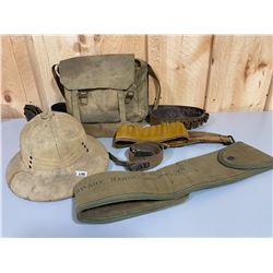 LOT OF MILITARY CANVAS ACCESSORIES