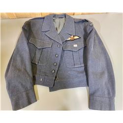 1962 RCAF BATTLE TUNIC W/ PILOT WINGS